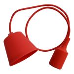 Φωτιστικό Κρεμαστό Μονόφωτο Κόκκινο Σιλικόνης