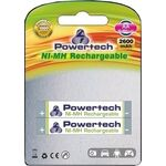Rechargeable Batteries POWERTECH Ni-MH AA 2600mAh