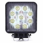 Vehicle Led Flood Light 27W 12V-24V DC Square