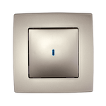 Switch 1 Button 1 Way Switch With Light City Champagne Metallic
