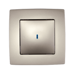 Switch 1 Button 2 Way Switch With Light City Champagne Metallic