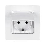 German Screw Type Socket IP44 City White
