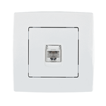 Phone Socket RJ11 City White