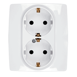 German Screw Type Socket Double City White
