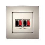 Audio Socket Double City Sampagne Metallic