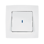 Switch 1 Button 1 Way Switch With Light City White
