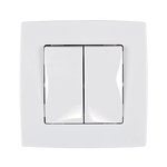 Switch 2 Button 2 Way Switch City White