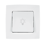 Push Light Button City White