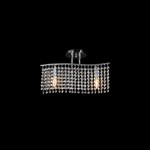 Lighting Pendant 2 Bulb Metal with Crystal 955ANNA2