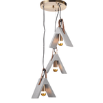 Lighting Pendant 3 Bulb Cement DCR171193PR
