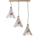Lighting Pendant 3 Bulb Cement DCR171193PS