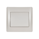 Switch 1 Button 1 Way Rhyme White Metallic