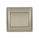 Switch 1 Button 1 Way Rhyme Champagne Metallic