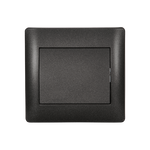 Switch 1 Button 2 Way Rhyme Graphite Metallic