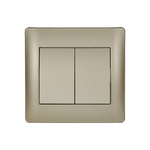 Switch 2 Buttons 1 Way K/R Rhyme Champagne Metallic