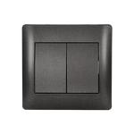 Switch 2 Button 1 Way Rhyme Graphite Metallic