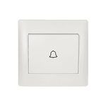 Door Bell Switch Rhyme White Metallic