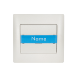 Door Bell Switch + Name Place Rhyme White Metallic