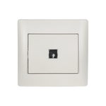 Push Light Switch Rhyme White Metallic