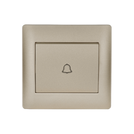 Door Bell Switch Rhyme Champagne Metallic