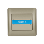 Door Bell Switch + Name Place Rhyme Champagne Metallic