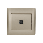 Push Light Switch Rhyme Champagne Metallic