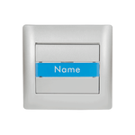 Door Bell Switch + Name Place Rhyme Grey Metallic