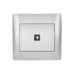 Push Light Switch Rhyme Grey Metallic