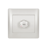 Dimmer Switch Rhyme White Metallic