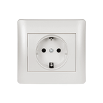 Schuko Socket Rhyme White Metallic