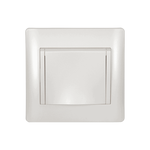 Schuko Socket with Cover Rhyme White Metallic