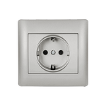 Schuko Socket Rhyme Grey Metallic