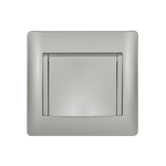 Schuko Socket with Cover Rhyme Grey Metallic