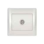 TV Socket Rhyme White Metallic