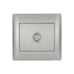 TV Socket Rhyme Grey Metallic
