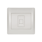 Phone Socket RJ11 Rhyme White Metallic
