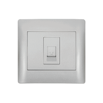 Phone Socket RJ11 Rhyme Grey Metallic