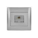 LAN Socket RJ45 Rhyme Grey Metallic (CAT5E)