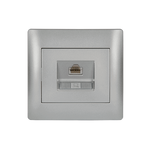 LAN Socket RJ45 Rhyme Grey Metallic (CAT6E)