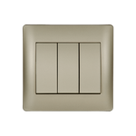 Switch 3 Buttons 1 Way Rhyme Champagne Metallic