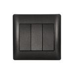 Switch 3 Button 1 Way Rhyme Graphite Metallic