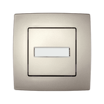 Doorbell Switch with Light Name Card City Champagne Metallic