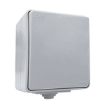 Outdoor Switch 1 Button 1 Way IP65 Grey