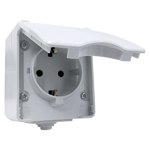 Outdoor German Type Socket IP65 Grey