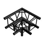 3-Way Corner for Truss Square 30x30 Black