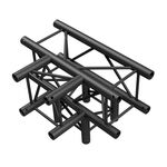T-Cross 4-Way Corner for Truss Square 30x30 Black