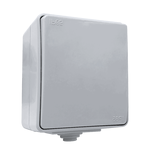 Outdoor Switch 1 Button 2 Way IP65 Grey