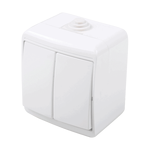 Outdoor Switch 2 Button 1 Way IP44 White