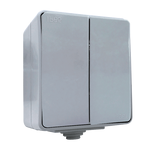 Outdoor 2 Button 1 Way Switch IP65 Grey