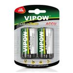 Alkaline Battery VIPOW LR20 D 1.5V 2pcs